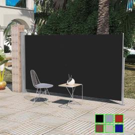 Luxe Terrasscherm Zwart 160x300 cm (hxb) Windscherm Oprolbaar