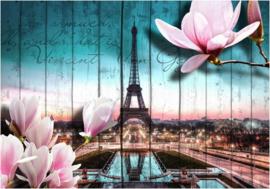 543 Parijs Eifffeltoren Magnolia Fotobehang 400x280