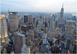 254 New York Manhattan Skyview 400x280 Fotobehang