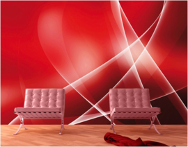 110 RELAXING SWING 400x280 3D rood  Abstract Retro fotobehang met lijm