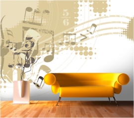 077 Muziek Muur Fotobehang  400X280 Actieprijs