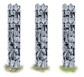Schanskorf Zuilen 3 delige set elk 100x12,5x12,5cm gabionen steenkorf
