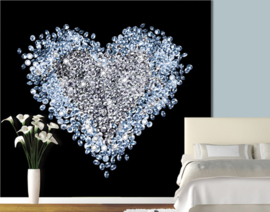 131 HEART OF DIAMOND 300x280 Bijzonder Fotobehang met Lijm