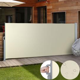 Luxe Terrasscherm Beige  180x300 cm (hxb) Windscherm Oprolbaar