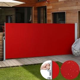 Luxe Terrasscherm Rood 160x300 cm Oprolbaar Tuinscherm Privacy