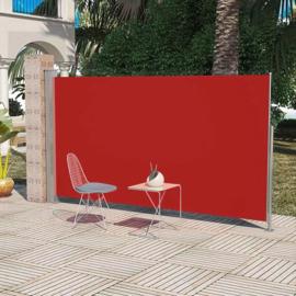 Luxe Terrasscherm Rood  160x300 cm (hxb) Windscherm Oprolbaar