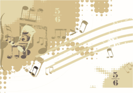 077 Muziek Muur 300x210  Fotobehang Actieprijs