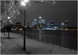 222 London Canary Wharf 420x270 Fotobehang Behanglijm inclusief