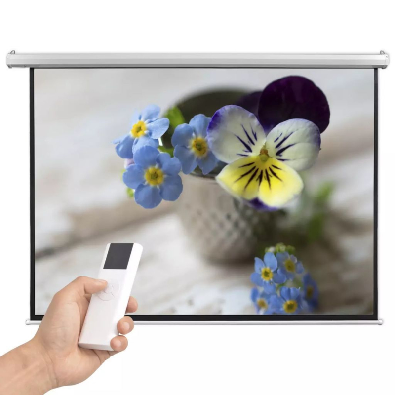 Projectiescherm met afstandbediening HD 200 x 153 met afstandsbediening cm Elektrisch