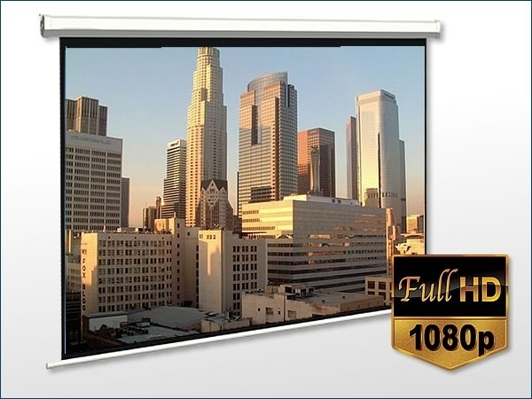 Projectiescherm Beamer scherm 152 cm x 152 cm  handbediend rolveer