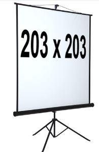 Beamerscherm Projectiescherm 203*203 cm Statief behuizing Zwarte