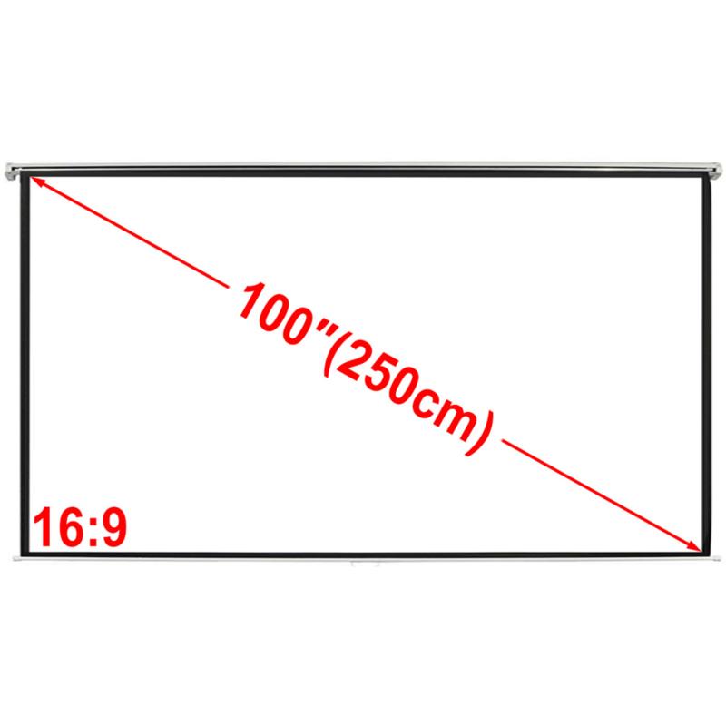 Projectiescherm Beamer scherm 200 * 153 cm handbediend rolveer