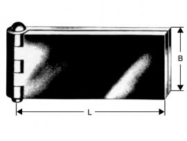Portier scharnier 30x60x5x6
