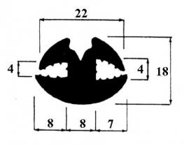 Raamrubber (RU-RA-182315)