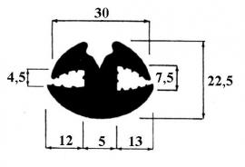 Raamrubber (RU-RA-182330)