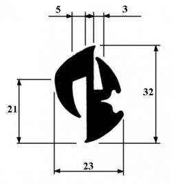 Raamrubber (RU-RA-182331)
