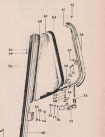 165121 rubber portierruit scania L serie rechts