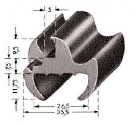 Raamrubber (RU-RA-40153)