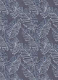 Behangexpresse Paradisio 2 Behang 10125-08 Botanisch/Bladeren/Natuurlijk/Blauw