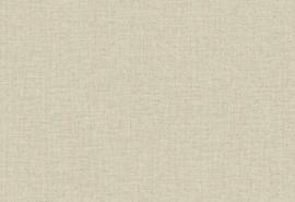Hookedonwalls Botanical Behang 19763 Hibiscus/Uni/Textiel Look/Natuurlijk