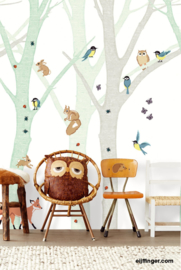 Eijffinger Wallpower Junior Behang 364128 Green Tree/Bomen/KInderkamer Fotobehang