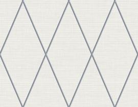 Dutch Wallcoverings Navy,Grey & White Behang BL71808 Grafisch/Ruiten/Landelijk/Grijs