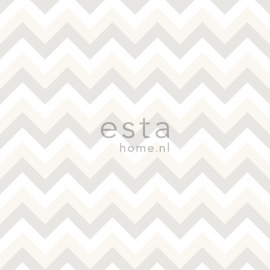 Esta Home Everybody Bonjour Behang. 137-128703 Baby/Kinder/Meisjes/Zigzag/Chevron