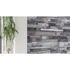 Dutch Wallcoverings One Roll One Motif Behang EP6002 Wood/3D/Hout/Planken