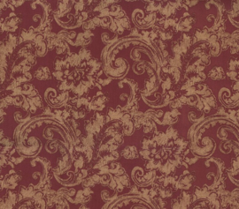 At Walls Odea Behang 46805 Barok/Ornament/Bloemen/Klassiek/Landelijk/Rood/Goud