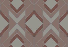 Hookedonwalls Tinted Tiles Behang 29032 Helix/Grafisch/Modern
