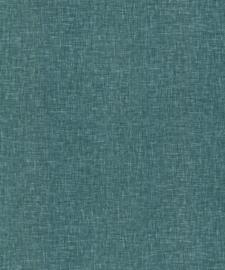 Arthouse Bloom Behang 676101 Linen Texture Teal/Landelijk/Modern/Natuurlijk