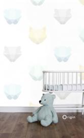 Origin Hide & Seek Behang 357208 Dieren/Koppen/Baby/Kinder Fotobehang
