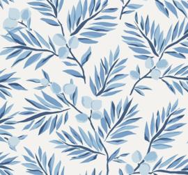 Dutch Wallcoverings Navy, Grey & White Behang BL70702 Botanisch/Bladeren/Natuurlijk