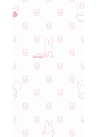 Kek Nijntje WP-511 Miffy Bears Pink Behang - Dutch Wallcoverings/Kek Amsterdam