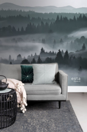 Esta Home Scandi Cool Fotobehang Foggy Mountains 158910 Mist/Bergen/Landschap