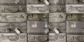 Esta Home Vintage Rules Behang. 138217 Vintage/Landelijk/Koffers.