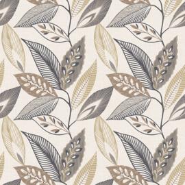 Arthouse Colour Luxe 904901 Sylvan Leaf Charcoal/Bladeren/Botanisch/Modern Behang Atwalls