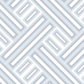 Rasch Galerie Geometrix Behang GX37607 Geometrisch/Modern/Vlakken/Blauw