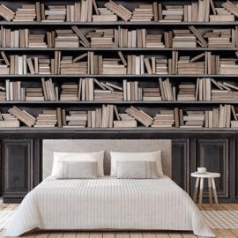 Dutch Wallcoverings One Roll One Motif Behang A36801 Bookshelf/Boekenplank/Kast/Landelijk