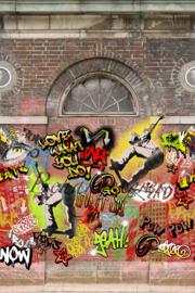 Behangexpresse ColorChoc Behang INK6087 Graffiti/Stoer/Modern/Industrieel Fotobehang