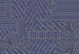 Hookedonwalls Sketch Behang 19542 Swerve/Grafisch/Modern/Flock