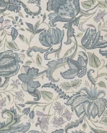 Eijffinger Sundari  Behang 375100 Bloemen/Etnisch/Jute Look/Blauw