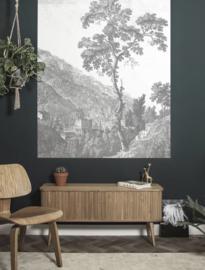 Kek Behangpaneel  Engraved Tree Behang PA-002 Flora & Fauna/Gegraveerde Boom/Landelijk/Botanisch/Modern Fotobehang