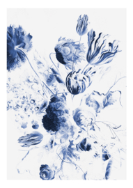 Kek Amsterdam WP 208 Royal Blue Flowers 2 Fotobehang - Dutch Wallcoverings