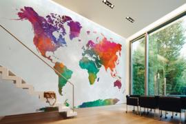 AS Creation Designwalls Fotobehang DD118802 Global Map/Wereldkaart/Modern/Travelling