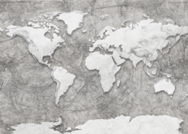 Komar Home Imagine Edition 4 Fotobehang X7-1007 World Relief/Wereldkaart/Map/Modern