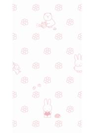 Kek Nijntje WP-526 Miffy Flowers Pink Behang - Dutch Wallcoverings/Kek Amsterdam