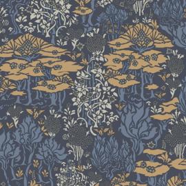 Hookedonwalls Daimon Behang DA23222 Natuurlijk/Botanisch/Bomen/Blauw