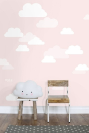 Esta XL Photowalls For Kids Fotobehang 158843 Wolken/Roze/Kinderkamer