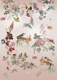 Behangexpresse Sofie & Junar Fotobehang INK7622 Vintage Fairytale/Botanisch/Dieren